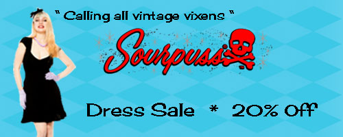 Sourpuss Dresses on Sale at Hey Viv !