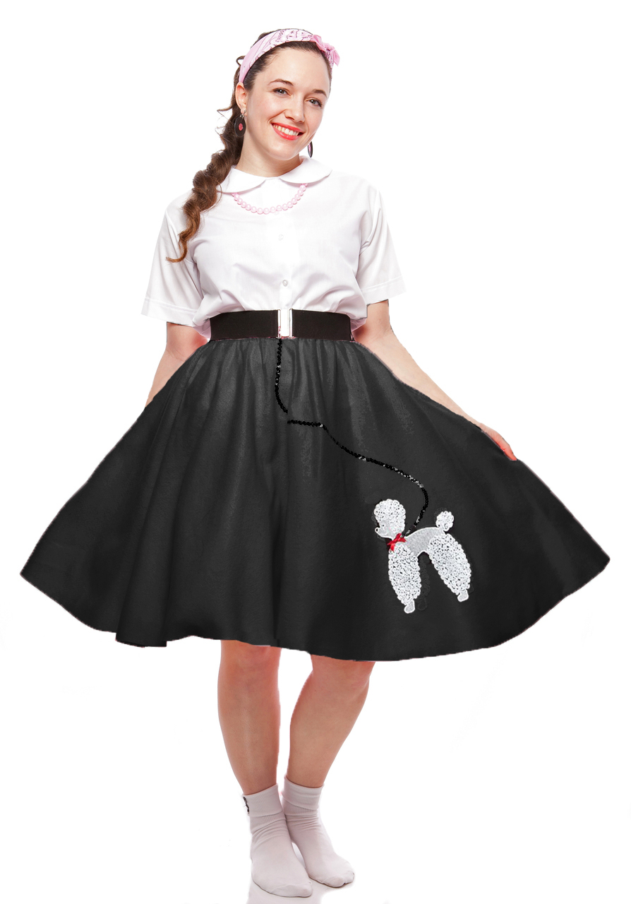 50's Style Poodle Circle Skirt, Peter Pan Blouse and Scarf at Hey Viv !