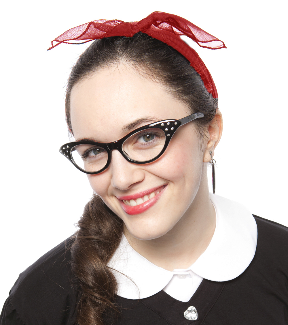 Wholesale retro cat eye glasses and sheer chiffon scarves at Hey Viv !