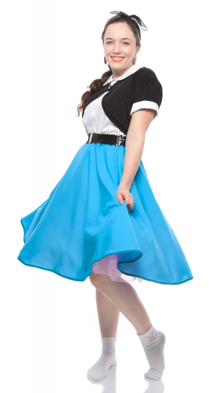 Wholesale Swing Circle Skirt in black, pink, red and turquoise